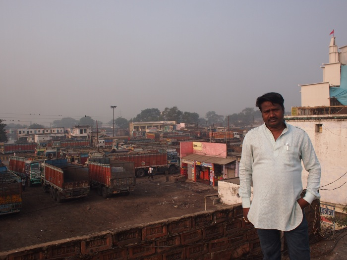 parmeshwar patil,  commission agent at the mandi. business is down. big traders extend credit. we cannot. a similar narrative as what one hears in farm mandis.