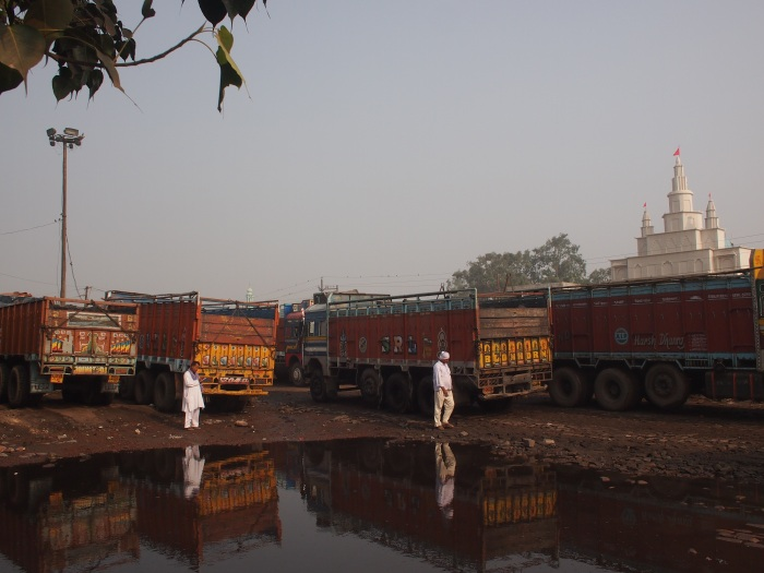 where the trucks from jharia stood.