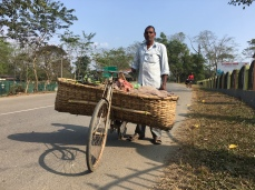 Vegetable seller near Margarita, Assam