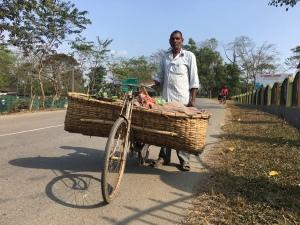 Vegetable seller near Margarita, Assam