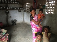 Tribal family in Krishnagiri, Tamil Nadu. Contrasts between the tribal and dominant community homes are stark.
