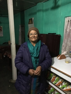 Dolma Lama, who runs a restaurant at Tenga Market, West Kameng, Arunachal Pradesh
