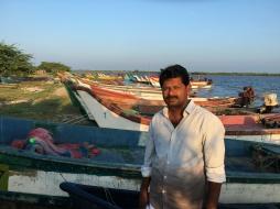 Fisherfolk leader, Pichavaram, Tamil Nadu.