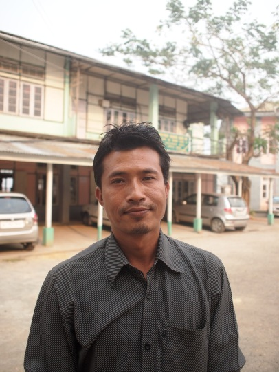 A teacher at Lawangtlai, Mizoram. Not getting his salary, he now supports his family by driving an auto.