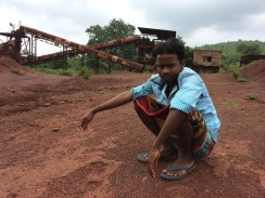 A solitary watchman guards an iron ore crushery in the iron ore boomtown of Koira. The boom is over. And the place has fallen silent (https://scroll.in/article/743164/odishas-mining-boom-is-over-and-everyone-is-scrambling-to-cut-their-losses)
